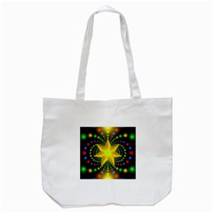 Christmas Star Fractal Symmetry Tote Bag (white) by Sapixe