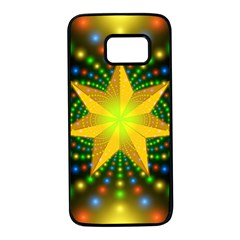 Christmas Star Fractal Symmetry Samsung Galaxy S7 Black Seamless Case