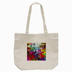 Color Abstract Visualization Tote Bag (cream) by Sapixe