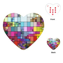 Color Abstract Visualization Playing Cards (heart)  by Sapixe