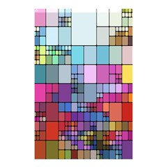 Color Abstract Visualization Shower Curtain 48  X 72  (small)
