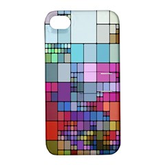 Color Abstract Visualization Apple Iphone 4/4s Hardshell Case With Stand
