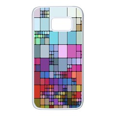 Color Abstract Visualization Samsung Galaxy S7 White Seamless Case
