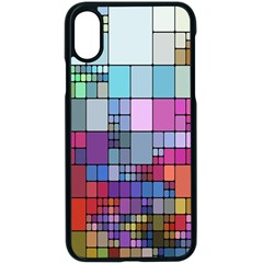 Color Abstract Visualization Apple Iphone X Seamless Case (black)