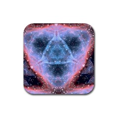 Sacred Geometry Mandelbrot Fractal Rubber Square Coaster (4 Pack)  by Sapixe