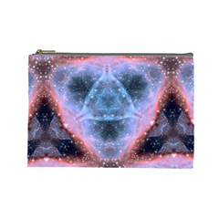Sacred Geometry Mandelbrot Fractal Cosmetic Bag (large)  by Sapixe