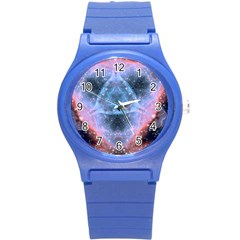 Sacred Geometry Mandelbrot Fractal Round Plastic Sport Watch (s) by Sapixe