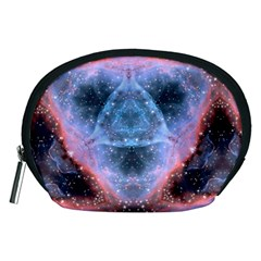 Sacred Geometry Mandelbrot Fractal Accessory Pouches (medium)  by Sapixe