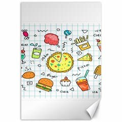 Colorful Doodle Soda Cartoon Set Canvas 12  X 18