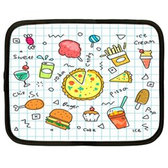 Colorful Doodle Soda Cartoon Set Netbook Case (xl)  by Sapixe
