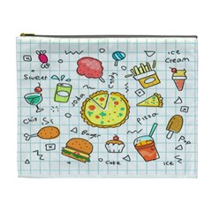Colorful Doodle Soda Cartoon Set Cosmetic Bag (xl) by Sapixe