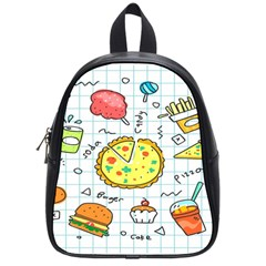 Colorful Doodle Soda Cartoon Set School Bag (small) by Sapixe