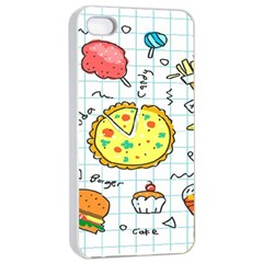 Colorful Doodle Soda Cartoon Set Apple Iphone 4/4s Seamless Case (white) by Sapixe