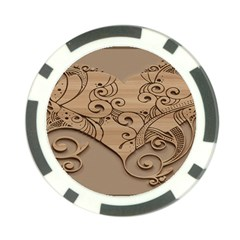 Wood Sculpt Carved Background Poker Chip Card Guard