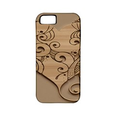Wood Sculpt Carved Background Apple Iphone 5 Classic Hardshell Case (pc+silicone) by Sapixe