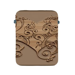 Wood Sculpt Carved Background Apple Ipad 2/3/4 Protective Soft Cases