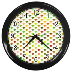 Background Multicolored Star Wall Clocks (black) by Sapixe