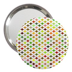 Background Multicolored Star 3  Handbag Mirrors by Sapixe