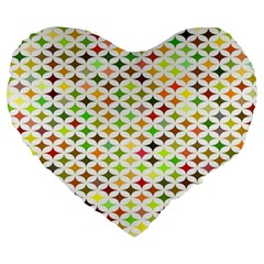 Background Multicolored Star Large 19  Premium Heart Shape Cushions