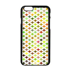 Background Multicolored Star Apple Iphone 6/6s Black Enamel Case