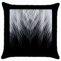 Feather Graphic Design Background Throw Pillow Case (black) by Sapixe