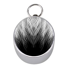 Feather Graphic Design Background Mini Silver Compasses by Sapixe