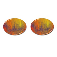 Fiesta Colorful Background Cufflinks (oval) by Sapixe