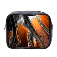 Fractal Structure Mathematics Mini Toiletries Bag 2 Side by Sapixe