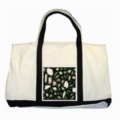 Fuzzy Abstract Art Urban Fragments Two Tone Tote Bag