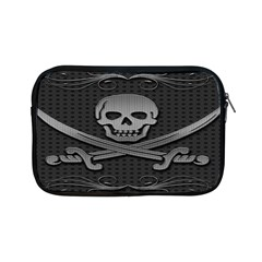 Skull Metal Background Carved Apple Ipad Mini Zipper Cases