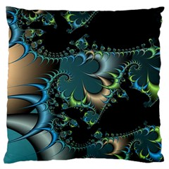 Fractal Art Artwork Digital Art Large Flano Cushion Case (one Side) by Sapixe