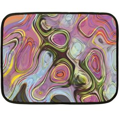 Retro Background Colorful Hippie Double Sided Fleece Blanket (mini)  by Sapixe