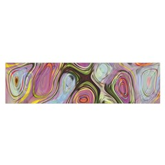 Retro Background Colorful Hippie Satin Scarf (oblong) by Sapixe