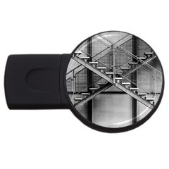 Architecture Stairs Steel Abstract Usb Flash Drive Round (2 Gb)