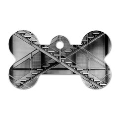 Architecture Stairs Steel Abstract Dog Tag Bone (two Sides)