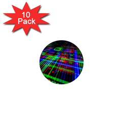 Electronics Board Computer Trace 1  Mini Magnet (10 Pack)  by Sapixe
