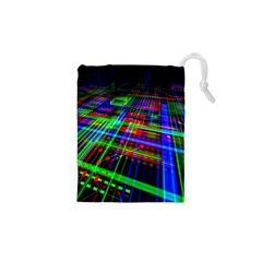 Electronics Board Computer Trace Drawstring Pouches (xs)  by Sapixe