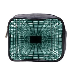 Abstract Perspective Background Mini Toiletries Bag 2 Side by Sapixe