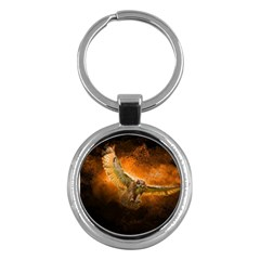 Art Creative Graphic Arts Owl Key Chains (round)  by Sapixe