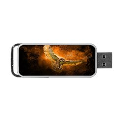 Art Creative Graphic Arts Owl Portable Usb Flash (one Side)