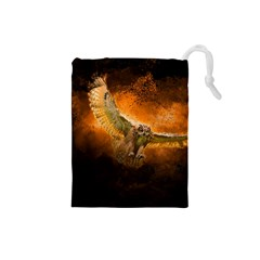 Art Creative Graphic Arts Owl Drawstring Pouches (small)