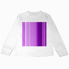 Background Texture Pattern Purple Kids Long Sleeve T Shirts by Sapixe