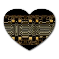 Board Digitization Circuits Heart Mousepads by Sapixe