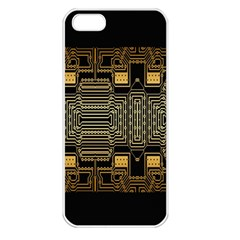 Board Digitization Circuits Apple Iphone 5 Seamless Case (white) by Sapixe