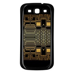 Board Digitization Circuits Samsung Galaxy S3 Back Case (black) by Sapixe
