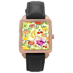 Seamless Pattern Desktop Decoration Rose Gold Leather Watch  by Sapixe