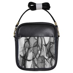 Abstract Black And White Background Girls Sling Bags by Sapixe