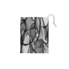 Abstract Black And White Background Drawstring Pouches (xs)  by Sapixe