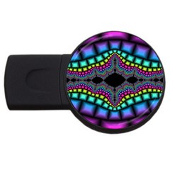 Fractal Art Artwork Digital Art Usb Flash Drive Round (2 Gb) by Sapixe