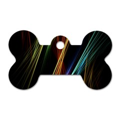 Lines Rays Background Light Dog Tag Bone (one Side)